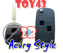 Flip Remote Key Case For Toyota 2 Button Remote Key Acura Style