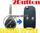 Flip Remote Key Case For Toyota Carolla 2 Button Key Acura Style