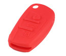 Silicone key Case For Audi A6L Flip Remote Key (Red Colour) 10pcs/Lot