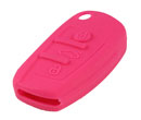 Silicone key Case For Audi A6L Flip Remote Key (Rose Red Colour) 10pcs/Lot