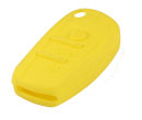 Silicone key Case For Audi A6L Flip Remote Key (Yellow Colour) 10pcs/Lot