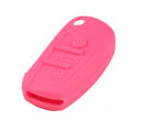 Silicone key Case For Audi A6L Flip Remote Key (Pink Colour) 10pcs/Lot
