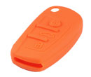 Silicone key Case For Audi A6L Flip Remote Key (Orange Colour) 10pcs/Lot