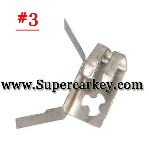 Car key battery clamp for remote key blank 3#(10pcs/Lot)