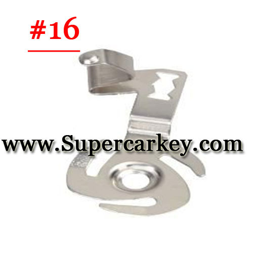 Car key terminal clamp for remote key blank 16#(10pcs/Lot)