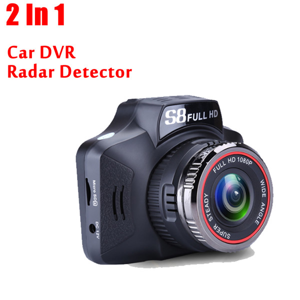 S8 2 In1 Car DVR Anti Laser Radar detector Russian& English Version 140 Degree Lens Car Radar Tachograph Traffic Warning
