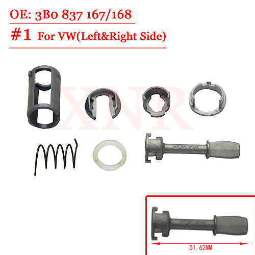 Lock Cylinder Barrel Repair Kit For VW (OE 3B0837167/168+ 51.62MM)