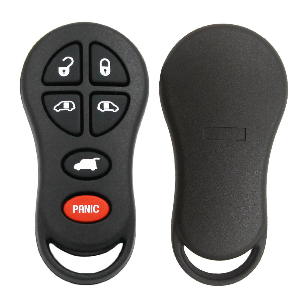 6 Button Remote Keyless Shell For Chrysler Jeep #3