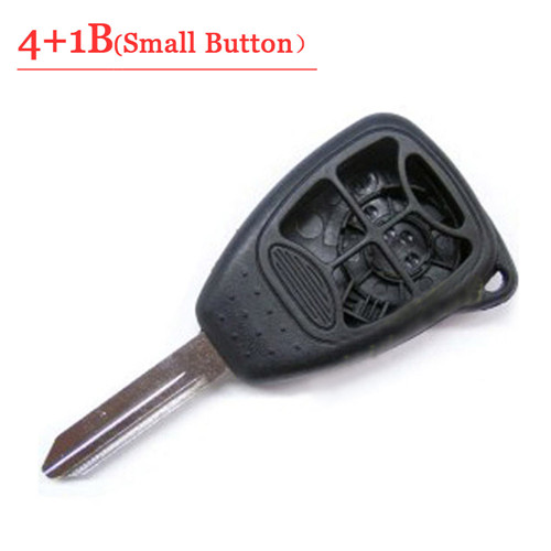 4+1 Button Remote Key Case With Small Panic For Chrysler Jeep Dodge