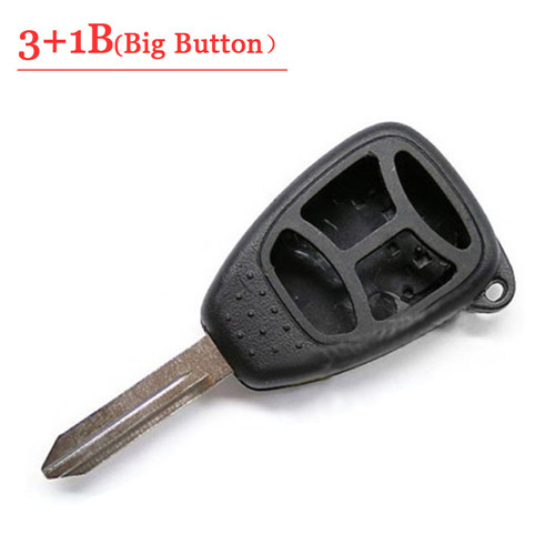 3+1 Button Remote key Case With Big Panic For Chrysler Jeep Dodge