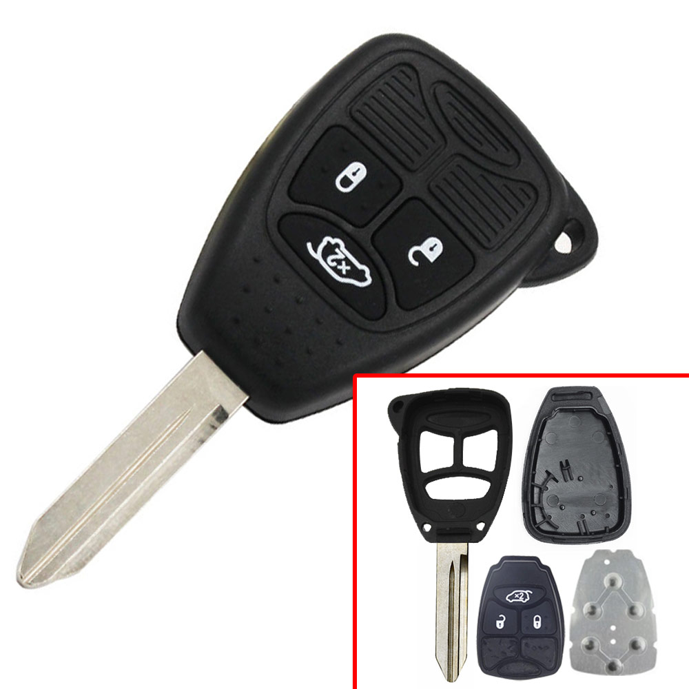 3 button Full Remote key Shell for Chrylser Dodge JeepWithout Panic