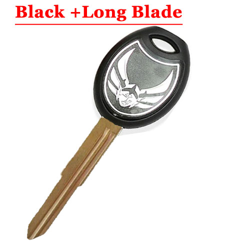 HD motorcycle transponder key blank Type#14 BLACK One Left blade