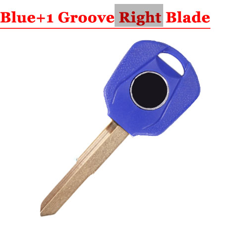 HD motorcycle transponder key blank Type#15 Blue One Right 1 groove Blade