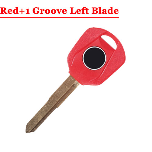 HD motorcycle transponder key blank Type#16 Red One LEFT 1 groove Blade