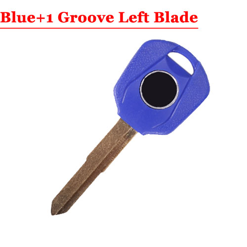 HD motorcycle transponder key blank Type#16 Blue One LEFT 1 groove Blade