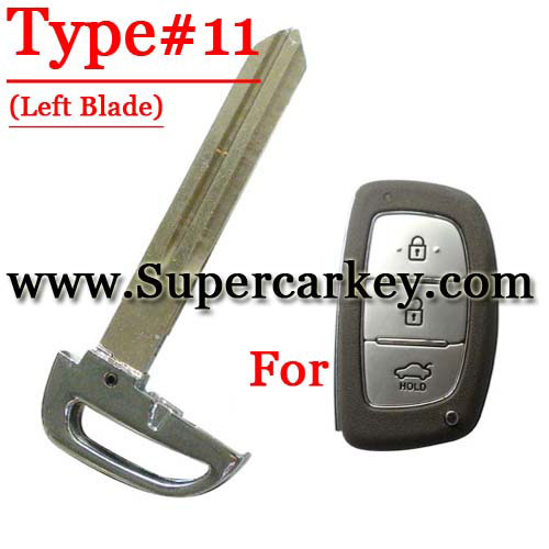 Emergency Key Left Blade For Hyundai Card Type#11