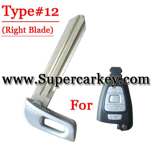 Emergency Key Right Blade For Hyundai Card Type#12