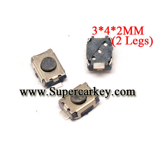 Micro Switch 3*4*2 (with 2 legs) 10pcs/lot