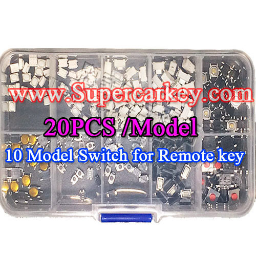 10 Model Swithes Full Set For Remote Key (20pcs/Model)