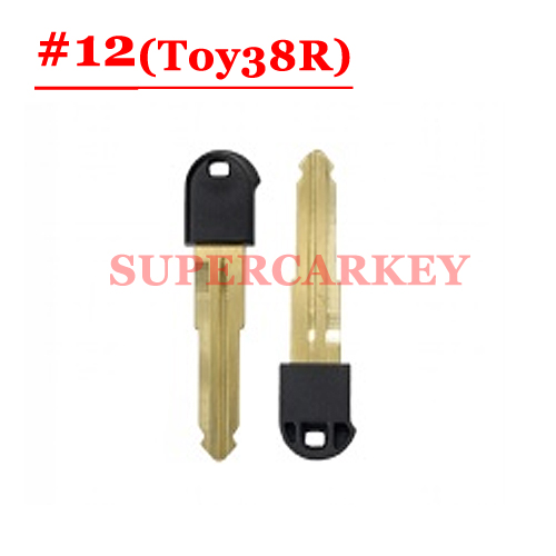 #12 emergency Key Blade For toyota