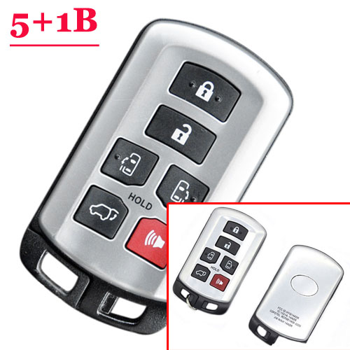 6 Button Smart Key Shell For Toyota