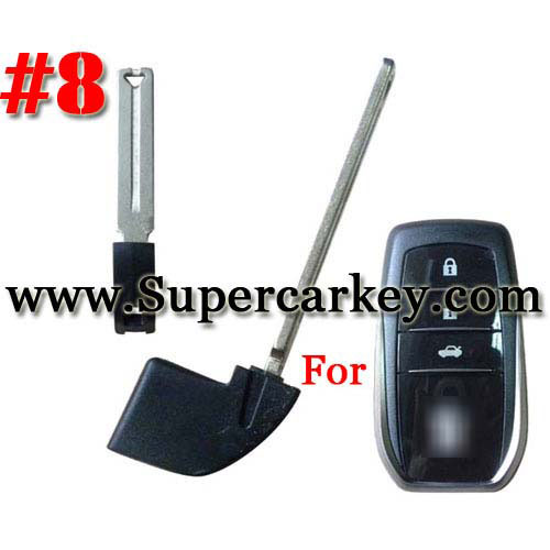 Emegency Remote Key for Toyota Smart Card #8
