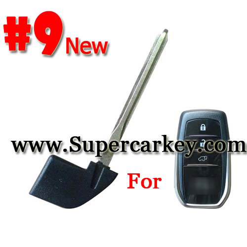 Emegency Remote Key for Toyota Smart Card #9