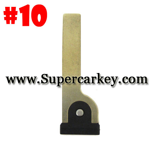 Emergency Key #10 For Toyota Smart Card