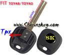 Transponder Key Blank Toy40 Toy48 For TPX Chip for Toyota