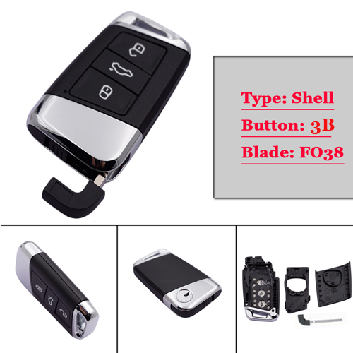 GENUINE New type  3 button Card key Case card for VW B8