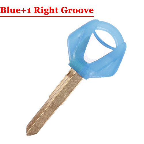 Type#9 Motorcycle Transponder Key For Yamha Right 2 Groove Blade Blue colour