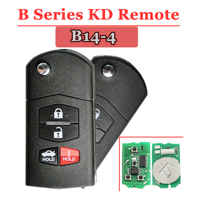 B14-04 3+1 Button Remote Key for URG200/KD900/KD200