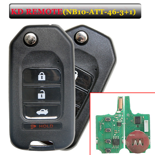 NB10 3+1 Button Remote Key with NB-ATT-46 Model for URG200/KD900/KD200