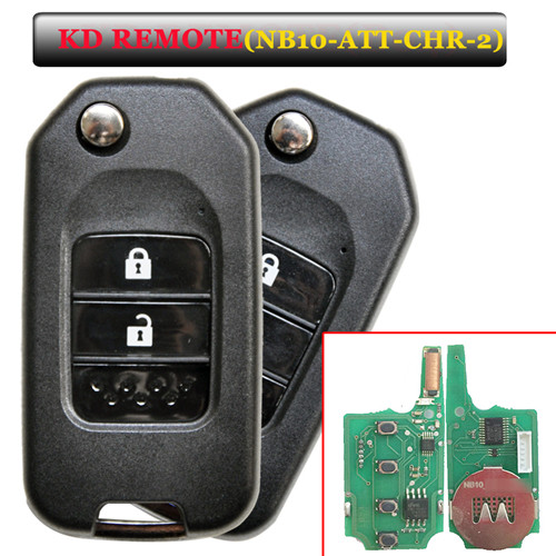 NB10 2 button remote key with NB10-ATT-Chrysler  model for KD900 machine
