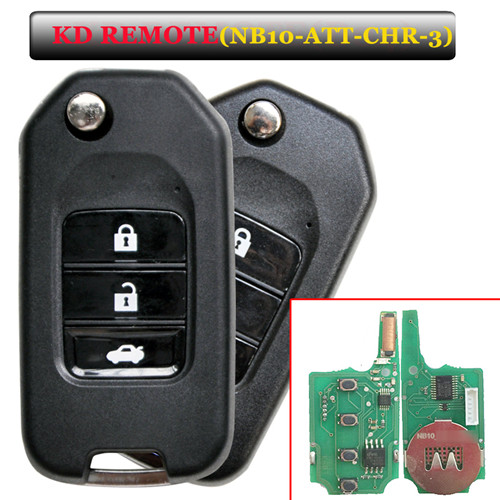 NB10 3 button remote key with NB10-ATT-Chrysler  model for KD900 machine