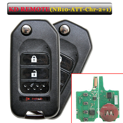 NB10 2+1 button remote key with NB10-ATT-Chrysler  model for KD900 machine