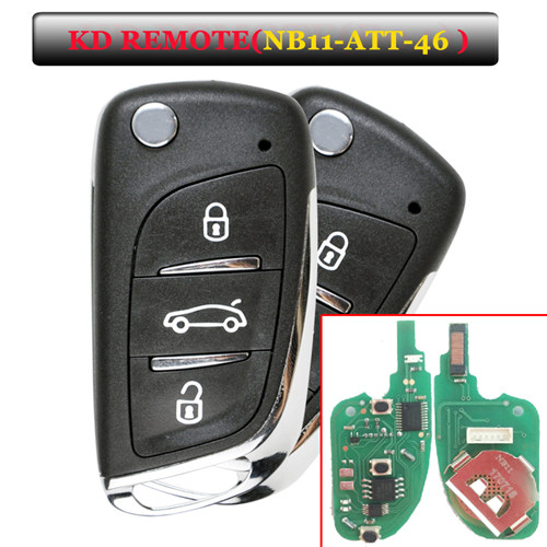 NB11 3 Button Remote Key with NB-ATT-46 Model for URG200/KD900/KD200