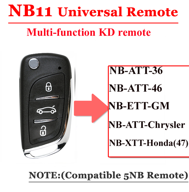 NB113 button remote key for KD900 Machine Universal Type
