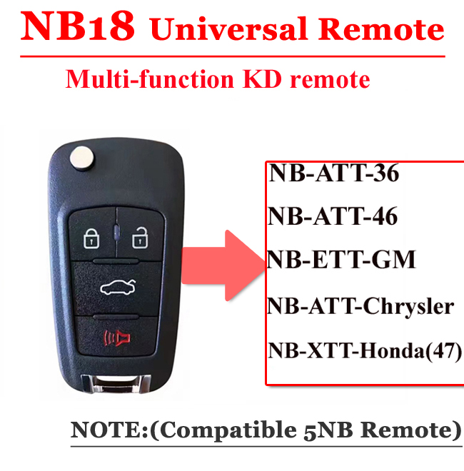 NB18 3 button remote key for KD900 machine(Universal)