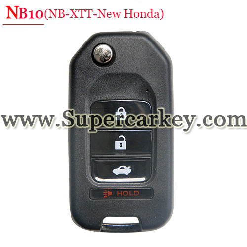 NB10 3+1 Button Remote Key with NB-XTT-New Honda Model for URG200/KD900/KD200