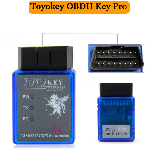Toyokey OBDII Key Pro Work with Mini CN900 or Mini 900 Support G H and 8A Chip All Key Lost