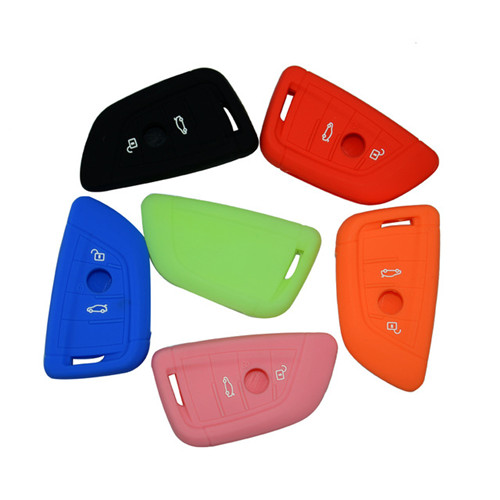 Silicone Car Key Cover Case for BMW 2 button flip key auto shell