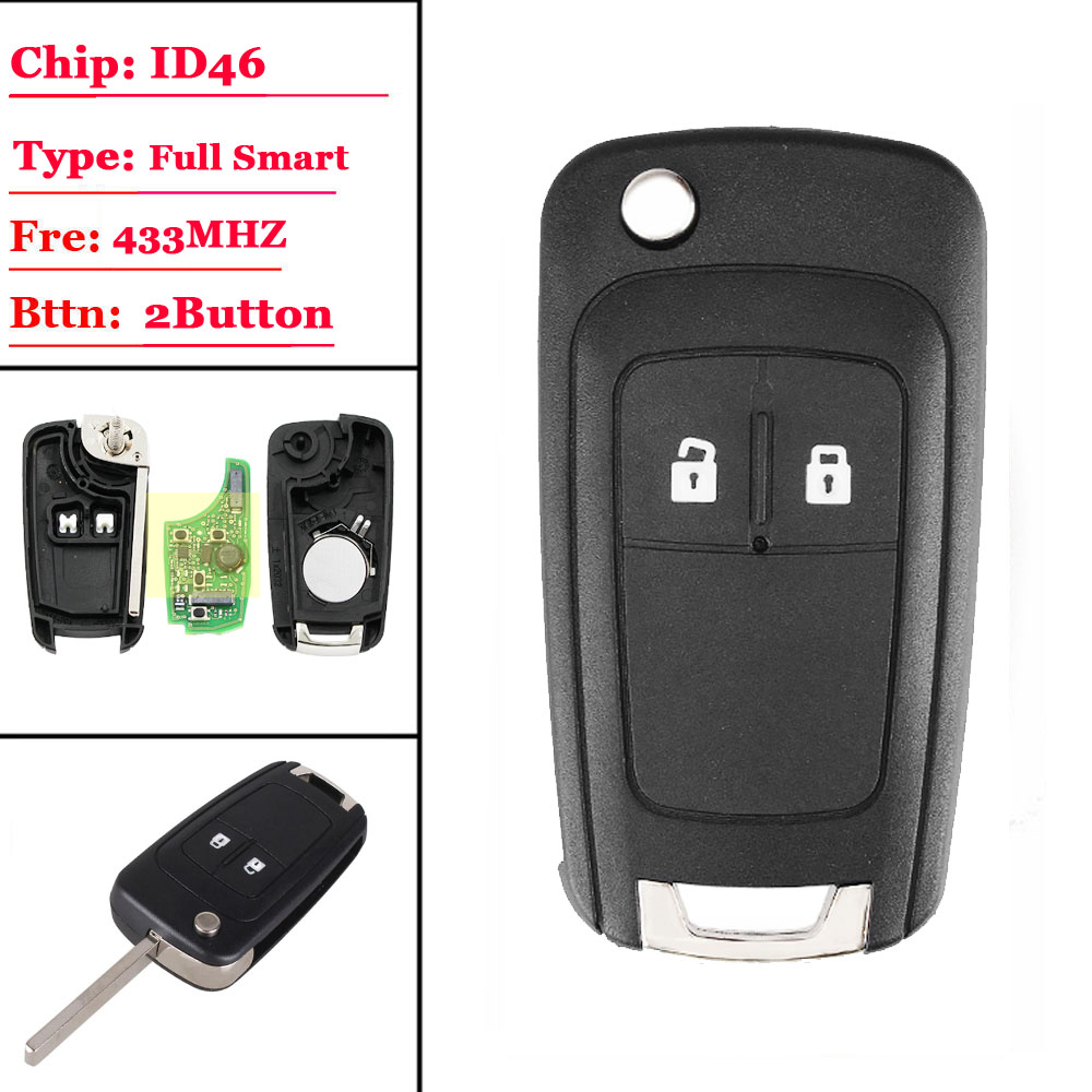 2 Button chevrolet smart keyless-g0 key with ID46 chip 433mhz