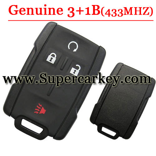 Genuine 3+1 Button Remote Card For Chevy and GM 315MHZ