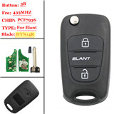 3 Button Flip Remote Key WITH id46 Chip For Hyundai Elantra