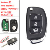 New Remodeling Fob Key Shell 3button for hyundai