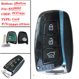 New 3 Button Smart Card  For Hyundai new Santa fee(MIC)