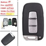 3 button Smart remote key For Hyundai 433MHZ(p/n:SY5HMFNA04)