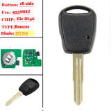 1 button Side remtoe key For Hyundai Left Blade 433MHZ