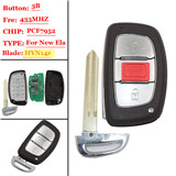 3 buttons FSK 433MHZ  new ELANTRA smart remote key For Hyundai